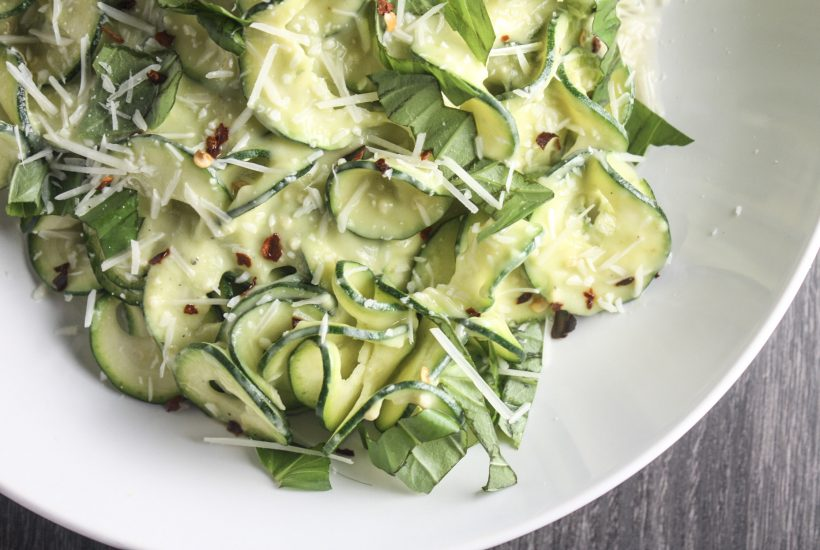 Zucchini Noodles with Avocado Sauce recipe | #lowcarb #ketogenic | mincerepublic.com