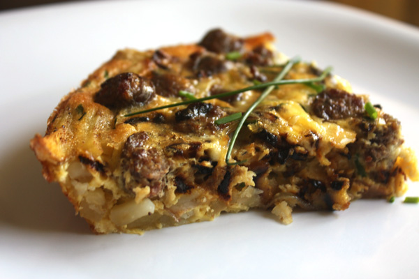 Mince Republic - Sausage Quiche with Potato Crust recipe