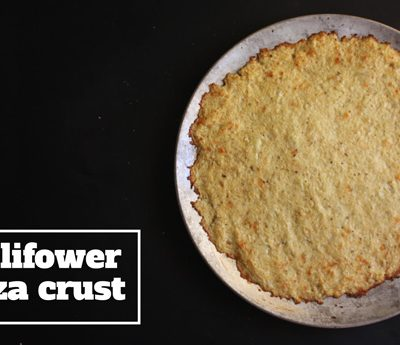 Cauliflower Pizza Crust Recipe - Mince Republic