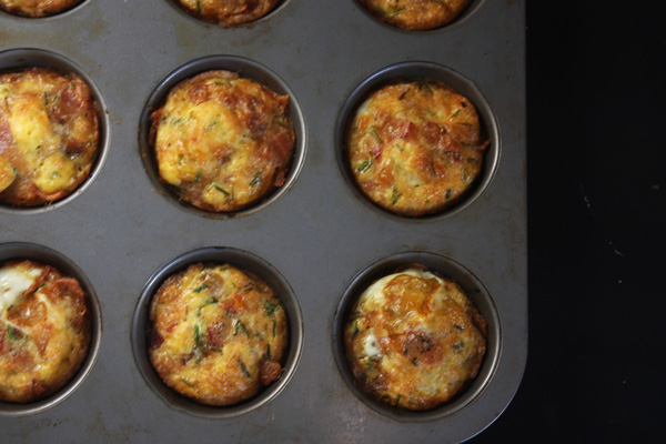 Egg Muffins (Bacon, Cheese, Chives) Recipe - Mince Republic