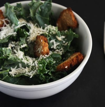 Kale Caesar with Homemade Croutons Recipe - Mince Republic
