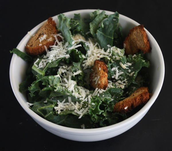 Kale Caesar Salad with Homemade Croutons Recipe - Mince Republic