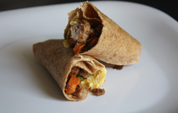 Sweet Potato & Sausage Breakfast Burrito - Mince Republic
