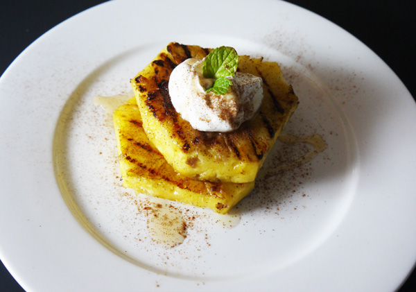 Grilled Pineapple with Honey Yogurt Recipe - Mince Republic