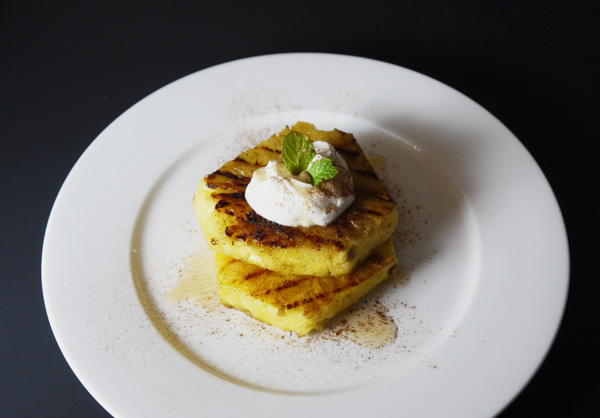 Grilled Pineapple with Honey Greek Yogurt Recipe - Mince Republic
