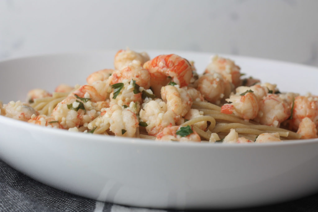 Langostino with Garlic Herb Butter recipe from Mince Republic