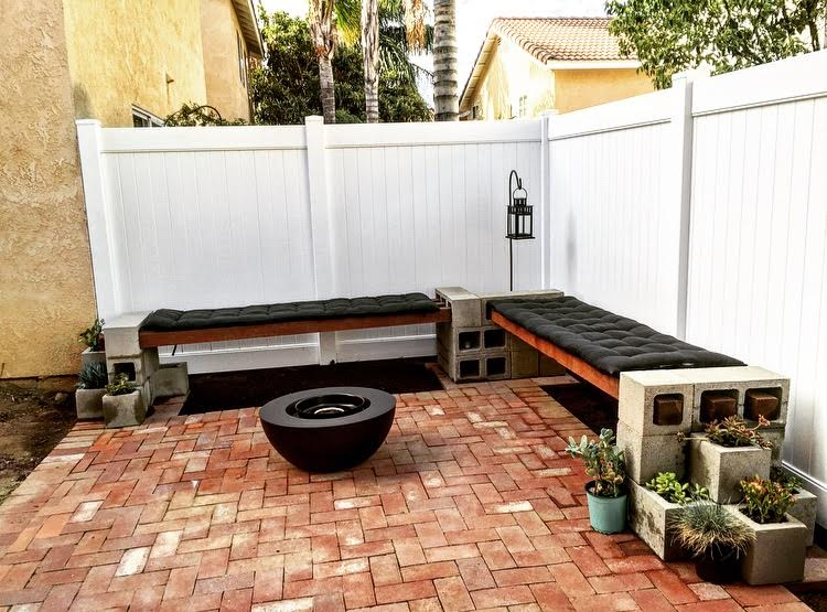 DIY Cinder Block Bench - Mince Republic