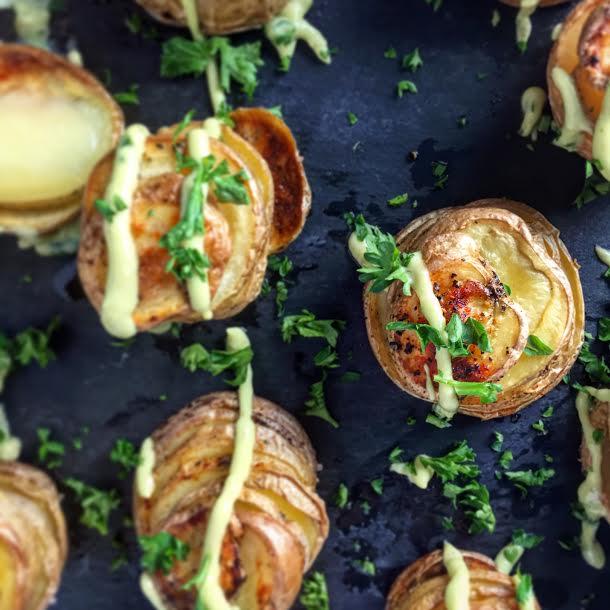 Potato Stacks with Avocado Sauce Recipe - Mince Republic