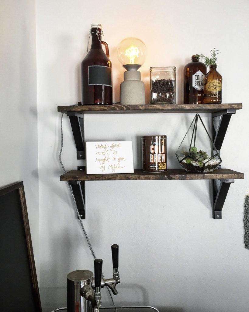 diy industrial shelves ikea hack mince republic. Black Bedroom Furniture Sets. Home Design Ideas