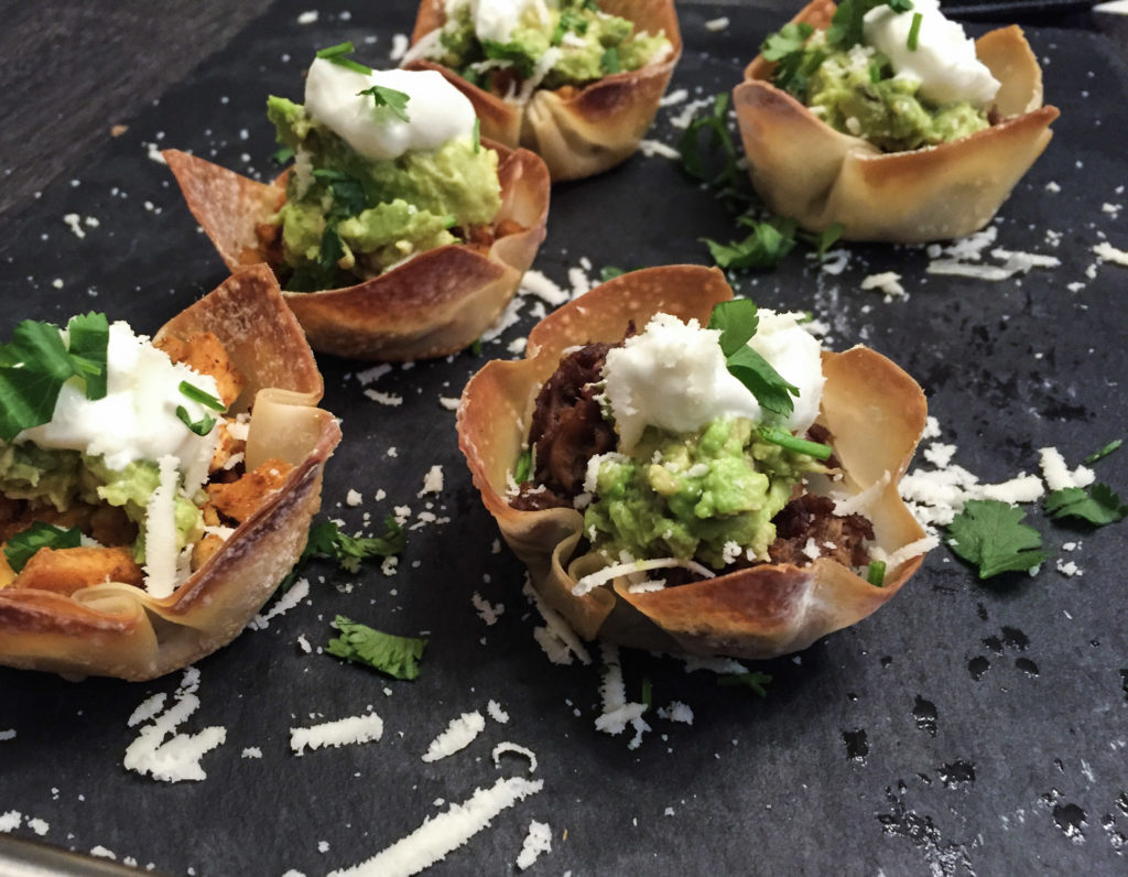 Wonton Taco Cups (Taco Cupcakes) recipe from Mince Republic
