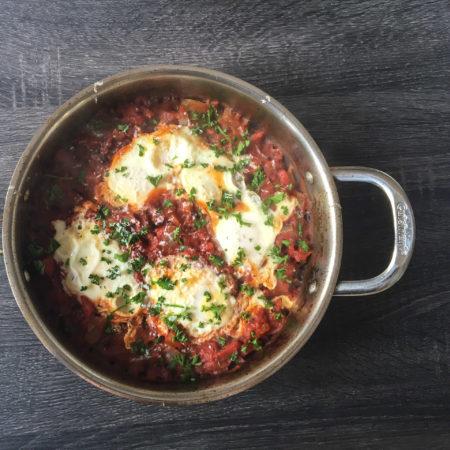 Shakshuka (Eggs in Purgatory) Recipe from Mince Republic