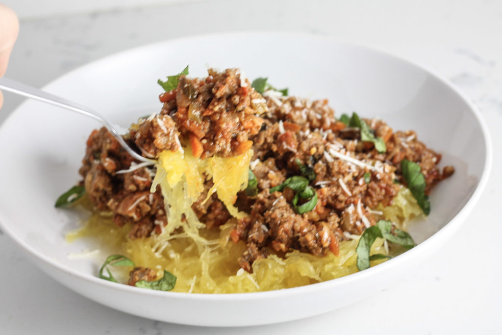 Spaghetti Bolognese with Spaghetti Squash recipe by Mince Republic