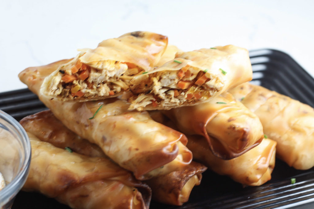 Buffalo Chicken Egg Rolls recipe from Mince Republic