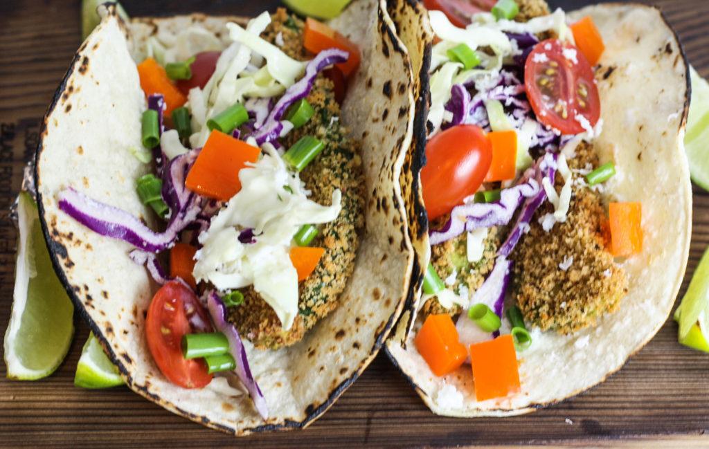 Baked Panko Avocado Tacos recipe from Mince Republic