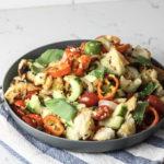 Panzanella Salad with Garlic Bread