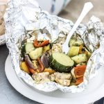 Chicken & Veggie Foil Packets with Pesto