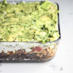 Healthy 7 Layer Dip | This healthy 7 layer dip recipe is made with black beans, ground turkey, guacamole, greek yogurt, bell pepper pico de Gallo and two types of cheese! | Keto Low Carb | mincerepublic.com