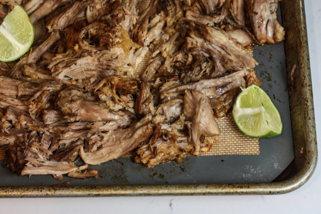 Instant Pot Shredded Pork Carnitas recipe | Quick & easy recipe for shredded pork carnitas! Perfect for tacos, burrito bowls, nachos, bbq sandwiches, etc. | mincerepublic.com