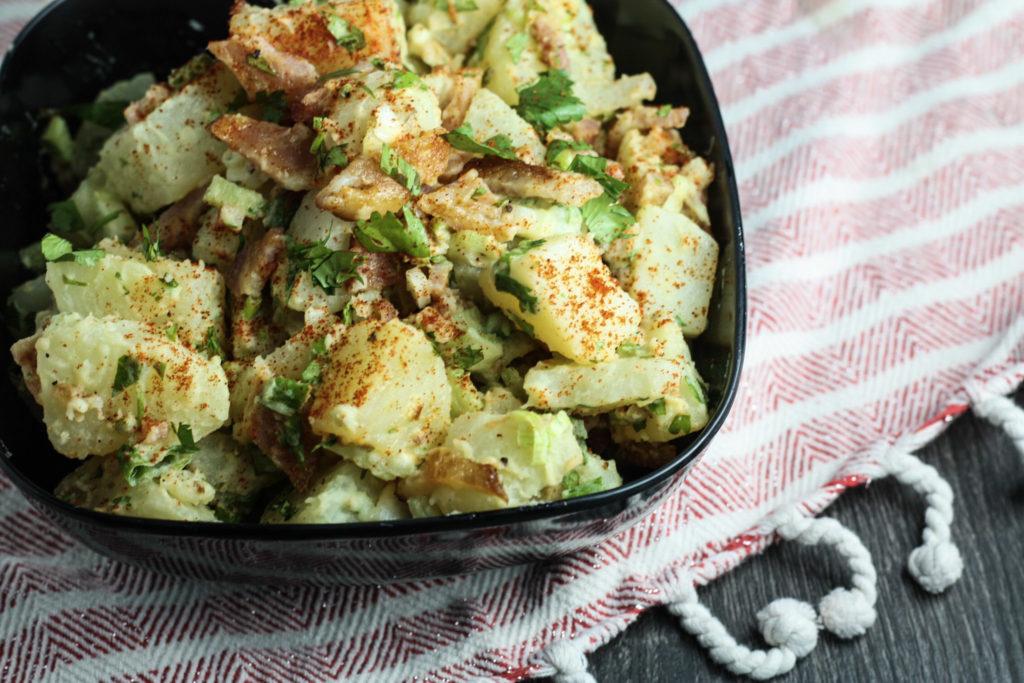 Potato Salad with Homemade Mayonnaise recipe | serve warm or cold | mincerepublic.com