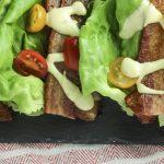 Breadless BLT with Avocado Mayonnaise recipe | The best treadless Bacon Lettuce Tomato sandwich topped with creamy Avocado Mayo! | Keto Low Carb Paleo | mincerepublic.com