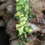 Grilled Tri-tip with Avocado Chimichurri