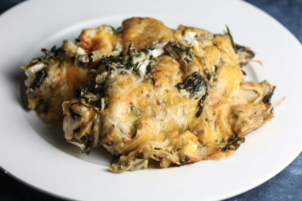 Creamy Spinach and Artichoke Chicken Bake | Easy and flavorful recipe perfect as a make ahead meal! | Low carb, Keto | mincerepublic.com