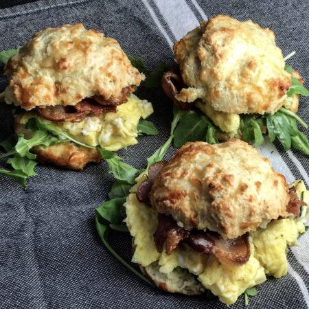 Keto Biscuit Breakfast Sandwich recipe - perfect for a keto friendly brunch! | mincerepublic.com
