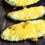 Jalapeno Poppers recipe | cream cheese stuffed in a jalapeno and topped with cheddar, cooked on the grill! | #lowcarb #ketorecipes | mincerepublic.com