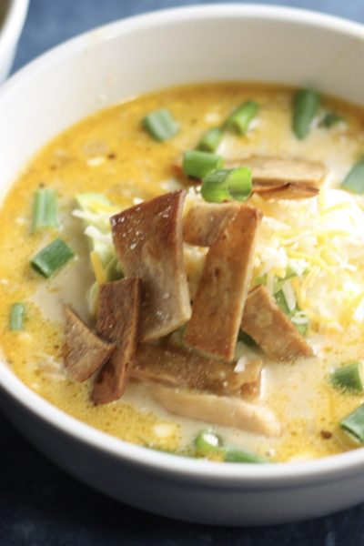 Creamy Chicken Tortilla Soup Recipe made in the Instant Pot! | mincerepublic.com