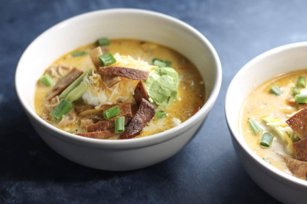 Creamy Chicken Tortilla Soup Recipe made in the Instant Pot! | mincerepublic.com