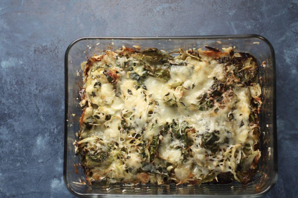 Brussels Sprouts Au Gratin | #lowcarb #keto #thanksgivingsides | mincerepublic.com