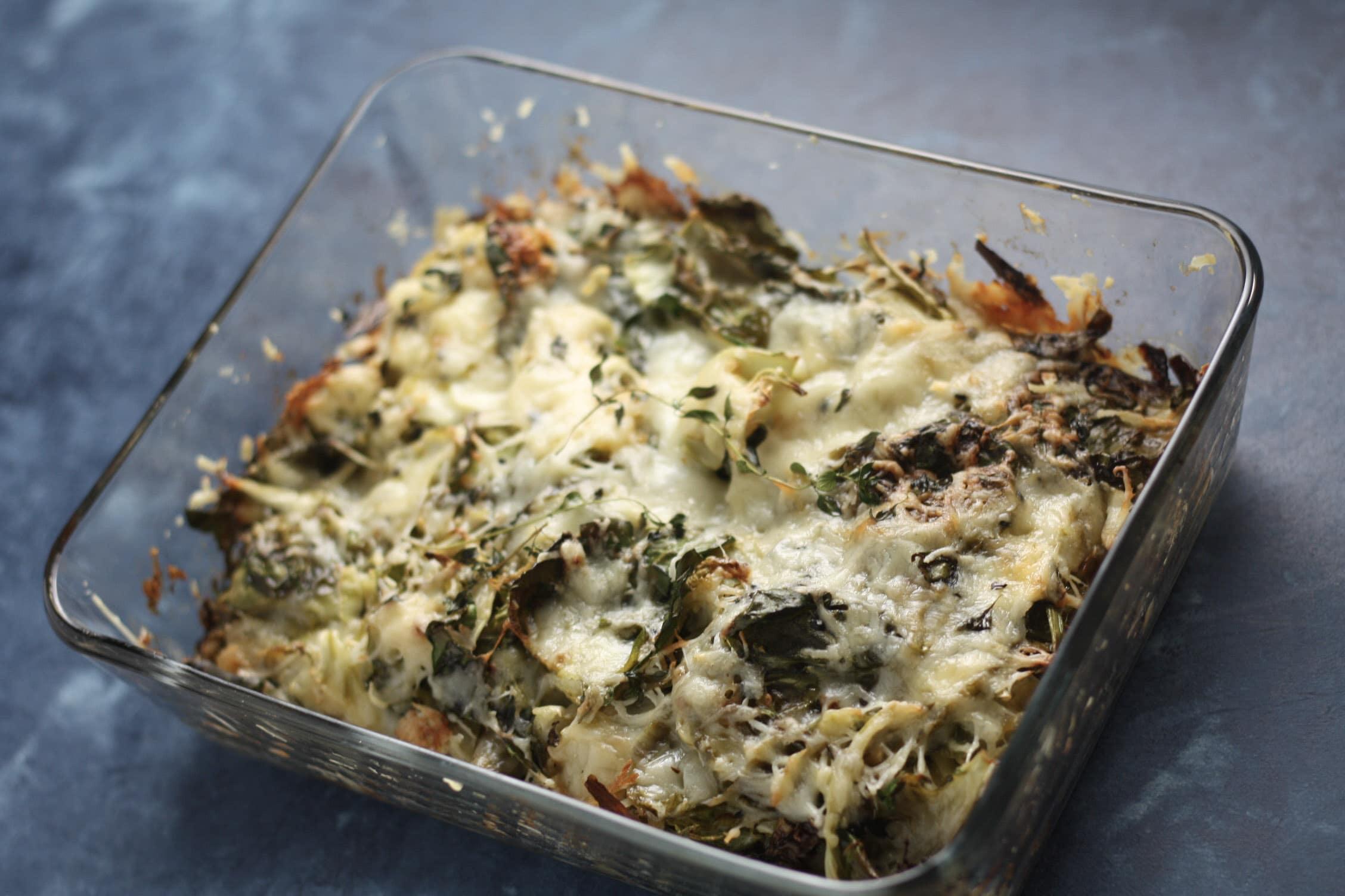 Brussels Sprouts Au Gratin   #lowcarb #keto #thanksgivingsides   mincerepublic.com