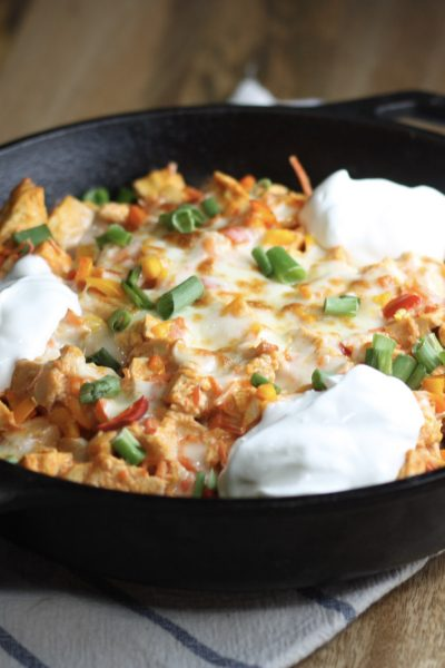 Buffalo Chicken Totchos Recipe | Made with Cauliflower tots or regular! | mincerepublic.com