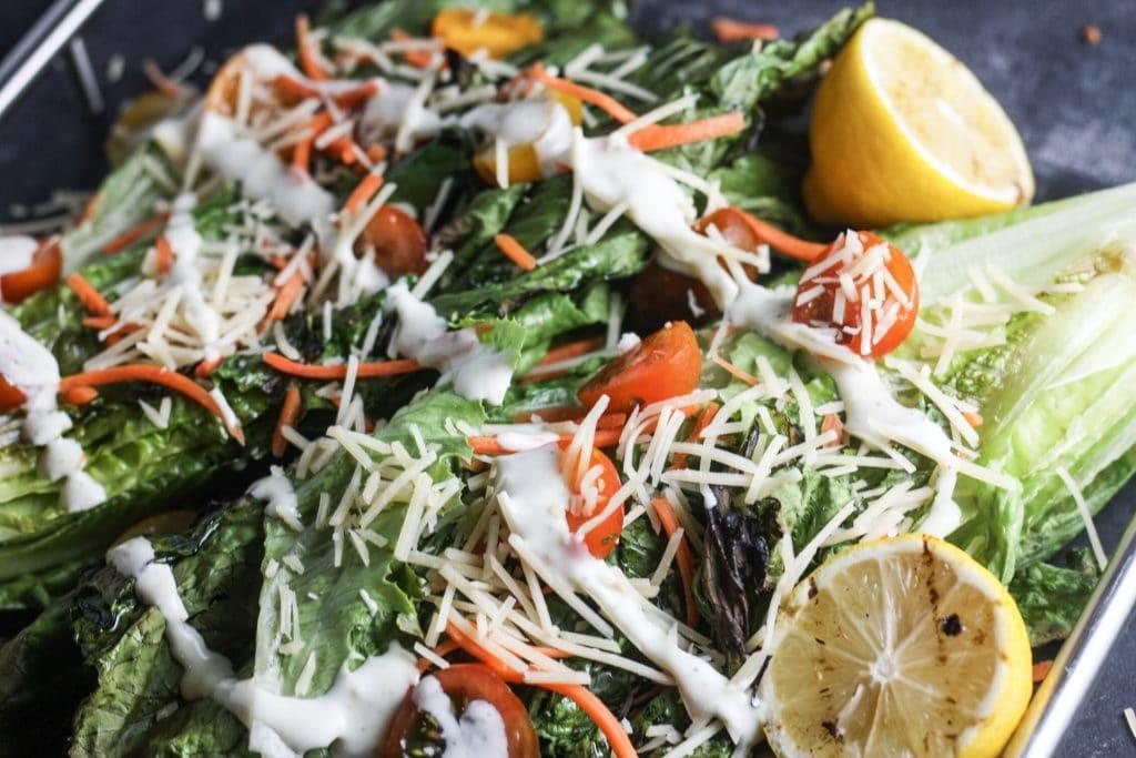 Grilled Caesar Salad Recipe | A beautiful twist on a classic! #grilling | mincerepublic.com