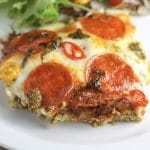 Pizza Casserole recipe | Your favorite pizza toppings in casserole form! | #keto #lowcarb | mincerepublic.com