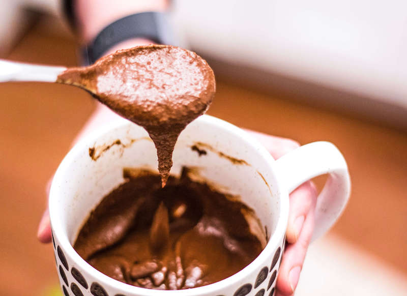 Microwave Mocha Mug Cake | #keto and #lowcarb #dessert recipe made in under 2 minutes | mincerepublic.com/mocha-mug-cake/