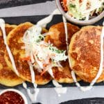 How to Make Pupasas: a low carb and keto friendly twist on the classic Salvadorian dish, these cheese Pupusas with Curtido are easy to make and delicious!