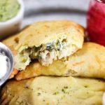 Chile Verde Chicken Empanadas