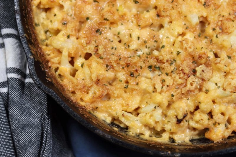 Cauliflower Mac n Cheese Recipe | The easiest and most delicious #keto and #lowcarb Cauliflower Mac n cheese recipe | mincerepublic.com