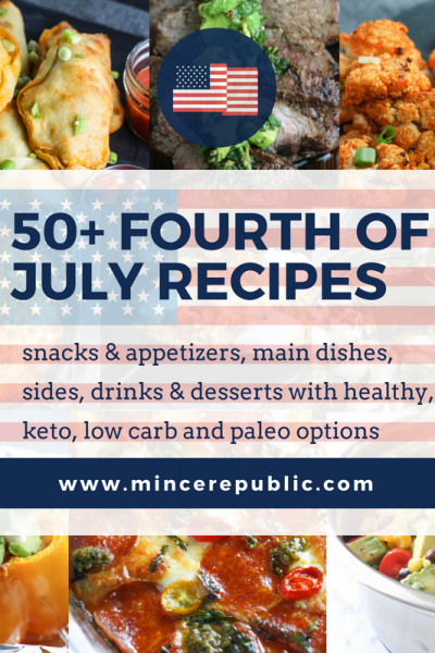 50+ Fourth of July Recipes | #lowcarb #keto #paleo #healthyoptions | mincerepublic.com
