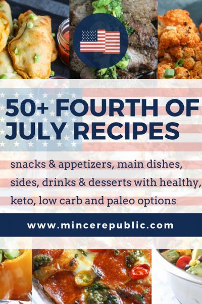 50+ Fourth of July Recipes | #lowcarb #keto #paleo #healthyoptions | mincerepublic.com