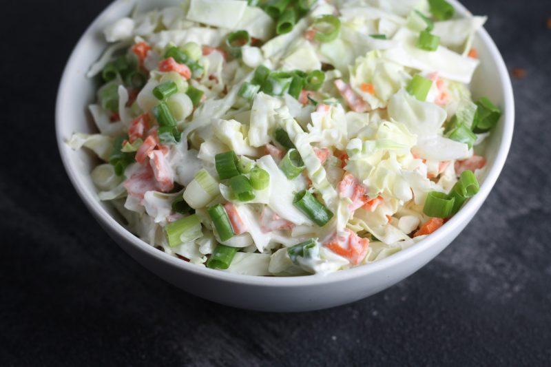 Creamy Mexican Cabbage Slaw recipe   #keto #lowcarb   mincerepublic.com