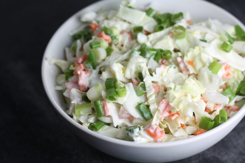 Creamy Mexican Cabbage Slaw recipe | #keto #lowcarb | mincerepublic.com
