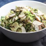 Shaved Brussels Sprouts with Slivered Almonds