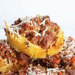 Spaghetti Squash & Bolognese Muffins