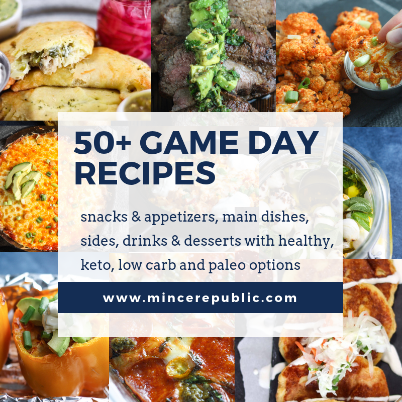 50+ Recipes for Game Day! | Be a game day hero with these recipes including options for #Keto, #lowcarb, #glutenfree and #paleo! | mincerepublic.com