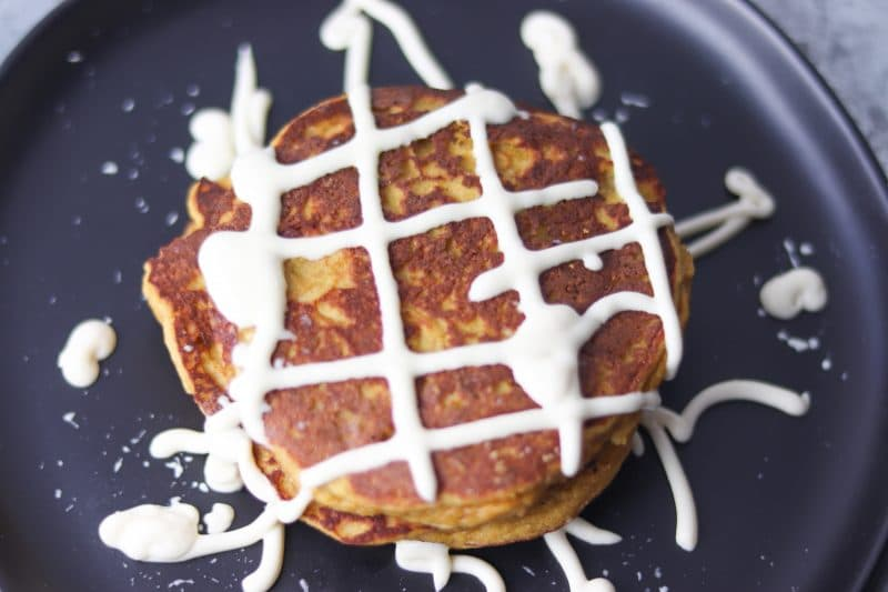 Keto Pumpkin Spice Pancakes Recipe | A delicious and fluffy low carb pancake recipe! #keto #lowcarb | mincerepublic.com