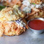 Buffalo Chicken Biscuit Sandwiches with Slaw