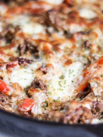 Philly Cheesesteak Casserole Recipe | Delicious #keto and #lowcarb dinner! | mincerepublic.com