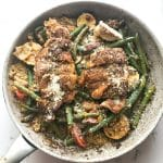Tuscan Chicken over Cauliflower Risotto with Vegetables